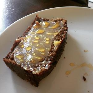 Cultured Cashew Cream on Paleo Bread with Honey