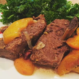 Pressure Cooked Peach Short Ribs